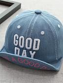 זול ילדים כובעים ומצחיות-מידה אחת שחור / כחול נייבי / כחול בהיר כובעים ומצחיות כותנה / ג'ינס מסוגנן / רקום אחיד / אותיות וינטאג' / פעיל / בסיסי בנים / בנות פעוטות / תינוק