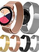 זול להקות Smartwatch-צפו בנד ל Gear S2 / Samsung Galaxy Watch 42 / Samsung Galaxy פעיל Samsung Galaxy לולאה בסגנון מילאנו מתכת אל חלד רצועת יד לספורט