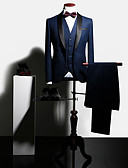 povoljno Smokinzi-Tuxedos Uski kroj Maramasti ovratnik Droit 1 bouton Poliester / Spandex Jednobojni / Posao / Vintage