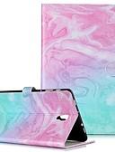 זול מגנים לטלפון-מגן עבור Samsung Galaxy Tab S4 10.5 (2018) / Tab A2 10.5 (2018) T595 T590 / Samsung S5e T520 10.5 ארנק / מחזיק כרטיסים / עם מעמד כיסוי מלא שיש קשיח עור PU