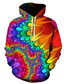 cheap Men's Hoodies & Sweatshirts-Men's Basic Hoodie - 3D Rainbow US36