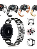 hesapli Smartwatch Bantları-Watch Band için Gear S3 Frontier / Gear S3 Classic / Samsung Galaxy Watch 46 Samsung Galaxy Spor Bantları / Takı Tasarımları Paslanmaz Çelik Bilek Askısı