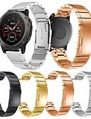 זול להקות Smartwatch-צפו בנד ל Fenix 5x / Fenix 3 / Garmin Tactix Garmin אבזם מודרני מתכת אל חלד רצועת יד לספורט