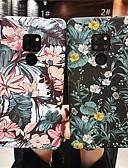 זול מגנים לטלפון-מגן עבור Huawei Mate 10 / Mate 10 pro / Huawei Mate 20 lite מזוגג / תבנית כיסוי אחורי פרח קשיח PC