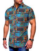 hesapli Tişört-Erkek Pamuklu Gömlek Desen, Zıt Renkli / Kabile Temel AB / ABD Beden Havuz / Kısa Kollu