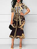 tanie Sukienki-Damskie Podstawowy Pochwa Sukienka - Geometric Shape Midi