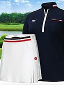 billige Skjorter til damer-Dame Skjørter T-Trøye Treningsdrakt Kortermet Golf treningsklær utendørs Vår Vinter / Bomull / Elastisk / Fukt Wicking / Pustende