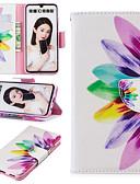Недорогие Чехлы для телефонов-Кейс для Назначение Huawei Huawei Honor 10 / Honor 10 Lite / Honor 8 Бумажник для карт / со стендом / Флип Чехол Пейзаж / Животное / Мультипликация Твердый Кожа PU / Настоящая кожа