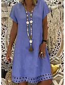 povoljno Ženska odjeća-Žene Osnovni Majica Haljina V izrez Do koljena