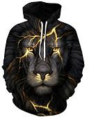 זול חולצות לגברים-3D / גראפי / חיה בסיסי / מוּגזָם שכמיות וחולצות - בגדי ריקוד גברים דפוס שחור