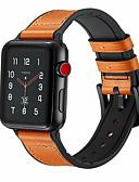 זול להקות Smartwatch-עור אמיתי לולאה לצפות רצועת עבור אפל לצפות הלהקה 44mm / 40mm / 42mm / 38mm עבור iwatch הלהקה ספורט אבזם 1/2/3/4