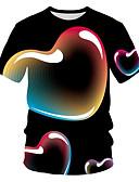 billige T-shirt-Dame - Farveblok / 3D / Grafisk Trykt mønster Gade / overdrevet T-shirt Sort US8 / UK12 / EU40