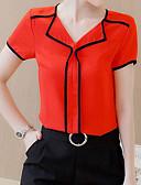 billige Skjorter til damer-Skjortekrage T-skjorte Dame - Ensfarget Grunnleggende Hvit