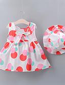 זול סטים של ביגוד לתינוקות-שמלה ללא שרוולים מנוקד בנות תִינוֹק