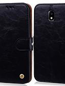 זול מגנים לטלפון-מגן עבור Samsung Galaxy J5 (2017) מחזיק כרטיסים / נפתח-נסגר כיסוי מלא אחיד קשיח עור PU