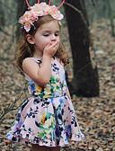 זול אוברולים טריים לתינוקות-שמלה ללא שרוולים פרחוני בנות תִינוֹק