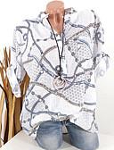 halpa Paita-Naisten V kaula-aukko Löysä Painettu Kuvitettu Perus Pluskoko - Paita Valkoinen