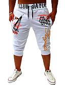 povoljno Muške duge i kratke hlače-Muškarci Osnovni Chinos / Sportske hlače Hlače - Jednobojni Obala Crn Sive boje US36 US38 US40