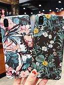 זול מגנים לטלפון-מגן עבור Huawei Huawei P20 / Huawei P20 Pro / Huawei P20 lite מזוגג / תבנית כיסוי אחורי פרח קשיח PC