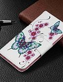 זול מגנים לטלפון-מגן עבור Samsung Galaxy Galaxy A7(2018) / Galaxy A10 (2019) / Galaxy A30 (2019) ארנק / מחזיק כרטיסים / עם מעמד כיסוי מלא פרפר קשיח עור PU