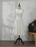 זול שמלות ערב-גזרת A עם תכשיטים Midi שיפון שמלה לשושבינה  עם קפלים על ידי LAN TING Express
