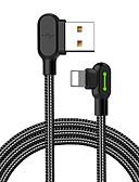 זול כבל & מטענים iPhone-תאורה כבל 0.5M (1.5Ft) קלוע / תשלום מהיר ניילון מתאם כבל USB עבור iPhone