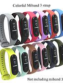 hesapli Smartwatch Bantları-Watch Band için Mi Band 3 Xiaomi Spor Bantları Silikon Bilek Askısı