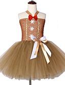 זול שמלות לבנות-שמלה עד הברך ללא שרוולים רשת טלאים מתוק / סגנון חמוד בנות ילדים / פעוטות
