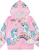 povoljno Majice s kapuljačama i trenirke za djevojčice-Djeca Djevojčice Osnovni Print Dugih rukava Bluza Blushing Pink