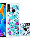 זול מגנים לטלפון-מגן עבור Huawei Huawei P20 / Huawei P20 Pro / Huawei P20 lite עמיד בזעזועים / נוזל זורם / שקוף כיסוי אחורי פרפר / חיה / זוהר ונוצץ רך TPU / P10 Lite