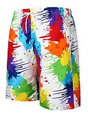 hesapli Erkek Pantolonları ve Şortları-Erkek Temel Şortlar Pantolon - Çok Renkli Gökküşağı M L XL