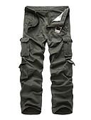 זול מכנסיים ושורטים לגברים-בגדי ריקוד גברים ספורטיבי / Military רזה צ'ינו / מכנסי מטען מכנסיים - אחיד קלאסי / טלאים כותנה אפור ירוק צבא חאקי US42 / UK42 / EU50 US44 / UK44 / EU52 US46 / UK46 / EU54