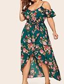 זול שמלות במידות גדולות-מקסי שמלה ישרה בסיסי בגדי ריקוד נשים