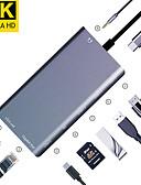 זול כבל & מטענים iPhone-maikou 8in1 סוג c רכזת USB 3.1 כדי כרטיס SD / rj45 / USB 3.0 / vga / hdmi USB לרכזת 8 יציאות תמיכה כוח משלוח פונקציה עם קורא כרטיסים