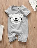 povoljno Majice za dječake-Dijete Dječaci Aktivan / Osnovni Print Print Kratki rukav Jednodijelno Sive boje