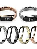 זול להקות Smartwatch-שלושה חרוזים נירוסטה אופנה שעונים רצועת עבור xiaomi mi band 3/4