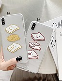 זול מגנים לאייפון-מארז iPhone xr / iPhone xs מקס דפוס / שקוף חזרה לכסות מזון רך tpu עבור 6 6 ועוד 6s 6splus 7 8 7plus 8 x x x x x