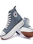 זול חולצה-בגדי ריקוד נשים נעלי ספורט נעליים סקסיות מטפסים בוהן עגולה קנבס יום יומי / מִעוּטָנוּת אביב קיץ ורוד / כחול בהיר / נמר / סִיסמָה