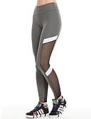 זול טייצים-בגדי ריקוד נשים מכנסי יוגה צבע אחיד רשת ריצה כושר וספורט כושר אמון טייץ רכיבה על אופניים חותלות לבוש אקטיבי פתילת לחות סטרצ'י (נמתח) סקיני