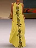 hesapli Maksi Elbiseler-Kadın's Sokak Şıklığı Zarif A Şekilli Çan Elbise - Geometrik, Şalter Desen Maksi