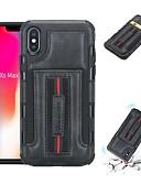 זול מגנים לאייפון-מארז iPhone xs / iPhone xs max shockproof / כרטיס מחזיק בחזרה לכסות מוצק צבעוני רך pu עור עבור iPhone 6 / iPhone 6 פלוס / iPhone 6s