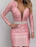 hesapli Kadın Elbiseleri-Kadın's Temel Kılıf Elbise - Geometrik Diz üstü
