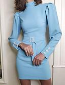 hesapli Günlük Elbiseler-Kadın's Kılıf Elbise - Solid Mini