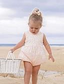 זול אוברולים טריים לתינוקות-מקשה אחת One-pieces ללא שרוולים פרחוני בנות תִינוֹק