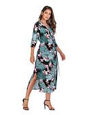 זול שמלות מקרית-מידי פרחוני - שמלה סווינג בגדי ריקוד נשים