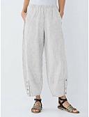 hesapli Tişört-Kadın's Temel Salaş Harem / Chinos Pantolon - Çizgili Mavi & Beyaz, Kırk Yama Havuz Siyah Gri L XL XXL