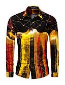 hesapli Erkek Gömlekleri-Erkek Gömlek Galaksi Temel AB / ABD Beden Altın / Uzun Kollu