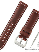 hesapli Deri Saat Bandı-Gerçek Deri / Buzağı Tüyü Watch Band kayış için Siyah / Mavi / Kahverengi 20cm / 7.9 İnç 2.2cm / 0.9 İnç / 2.4cm / 0.94 İnç / 2.6cm / 1.02 İnç