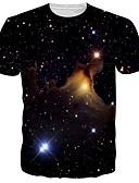 abordables T-shirts & Débardeurs Homme-Tee-shirt Homme, 3D Basique Noir US38 / UK38 / EU46