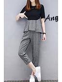 hesapli İki Parça Kadın Takımları-Kadın's Temel / Çin Stili Set Solid Pantolon